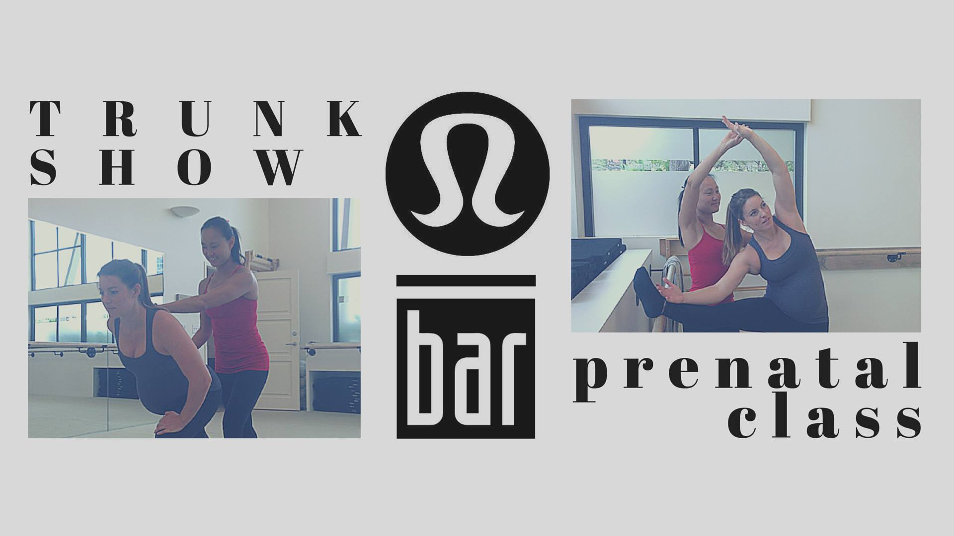 trunk show and prenatal class