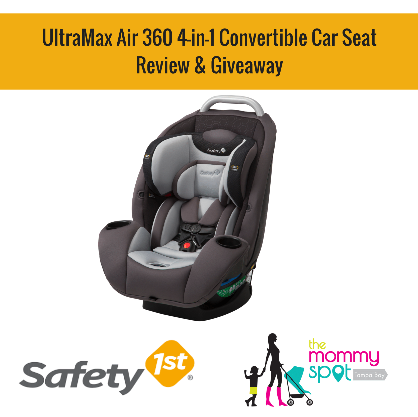 safety 1st ultramax air 360 4 in 1 convertible car seat review giveaway the mommy spot tampa bay. Black Bedroom Furniture Sets. Home Design Ideas
