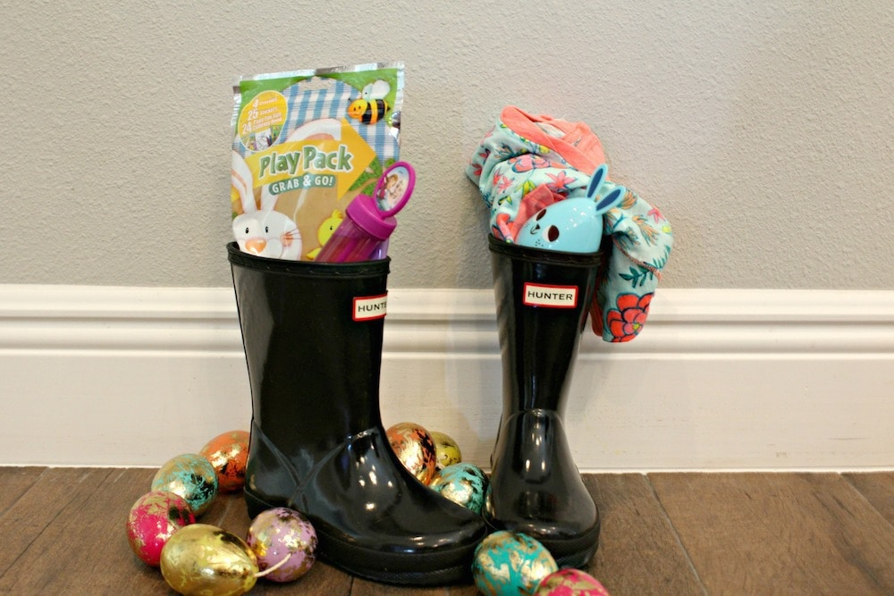 20 ideas for creative reusable and multi purpose easter baskets 20 creative easter basket ideas boots any type of shoe will work but boots give you a little more room to work with you could also use the shoe box negle Image collections