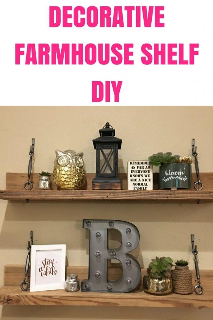 Decorative Farmhouse Shelf DIY